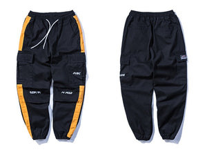 SubCrude Casual Striped Joggers - Clout Collection High Fashion Streetwear Men's and Women's