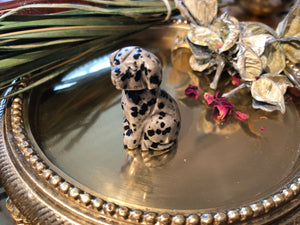 Miniature Dalmation Stone Dog