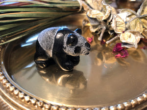 Miniature Black Onyx Panda