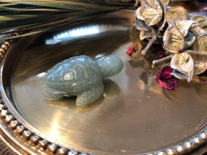 Miniature Green Aventurine Turtle