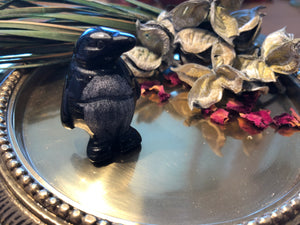 Miniature Black Onyx Penguin