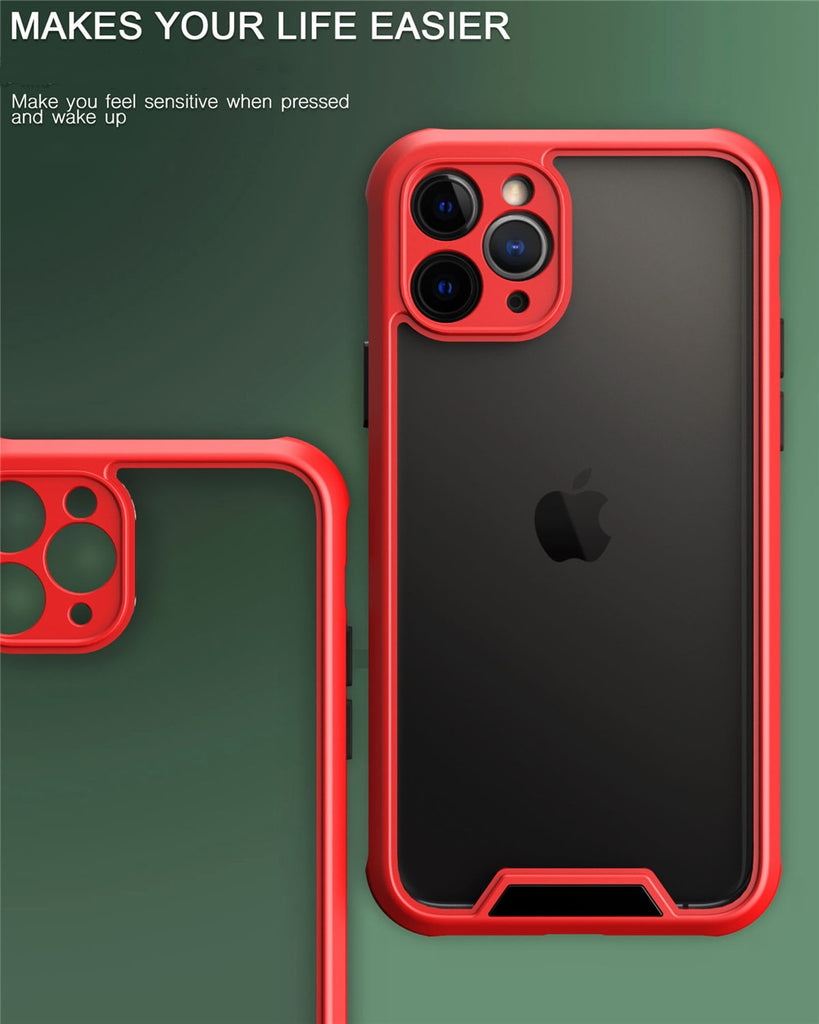 Shockproof Bumper Armor Phone Case For iPhone 11 12 SE 2020 11Pro Max XR XS Max X XS 7 8 Plus 12Pro Camera Protection Back Cover