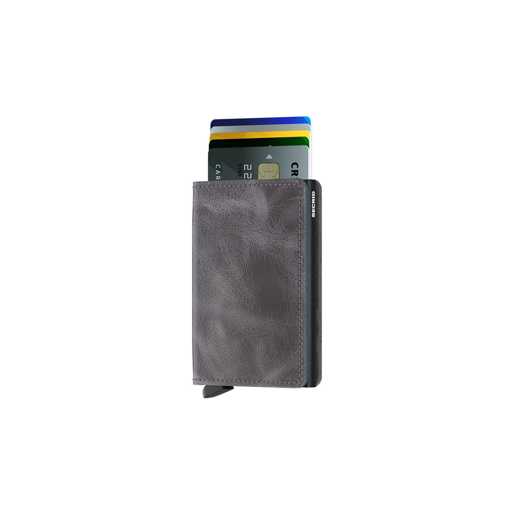 Secrid Slim Wallet Vintage Grey Black
