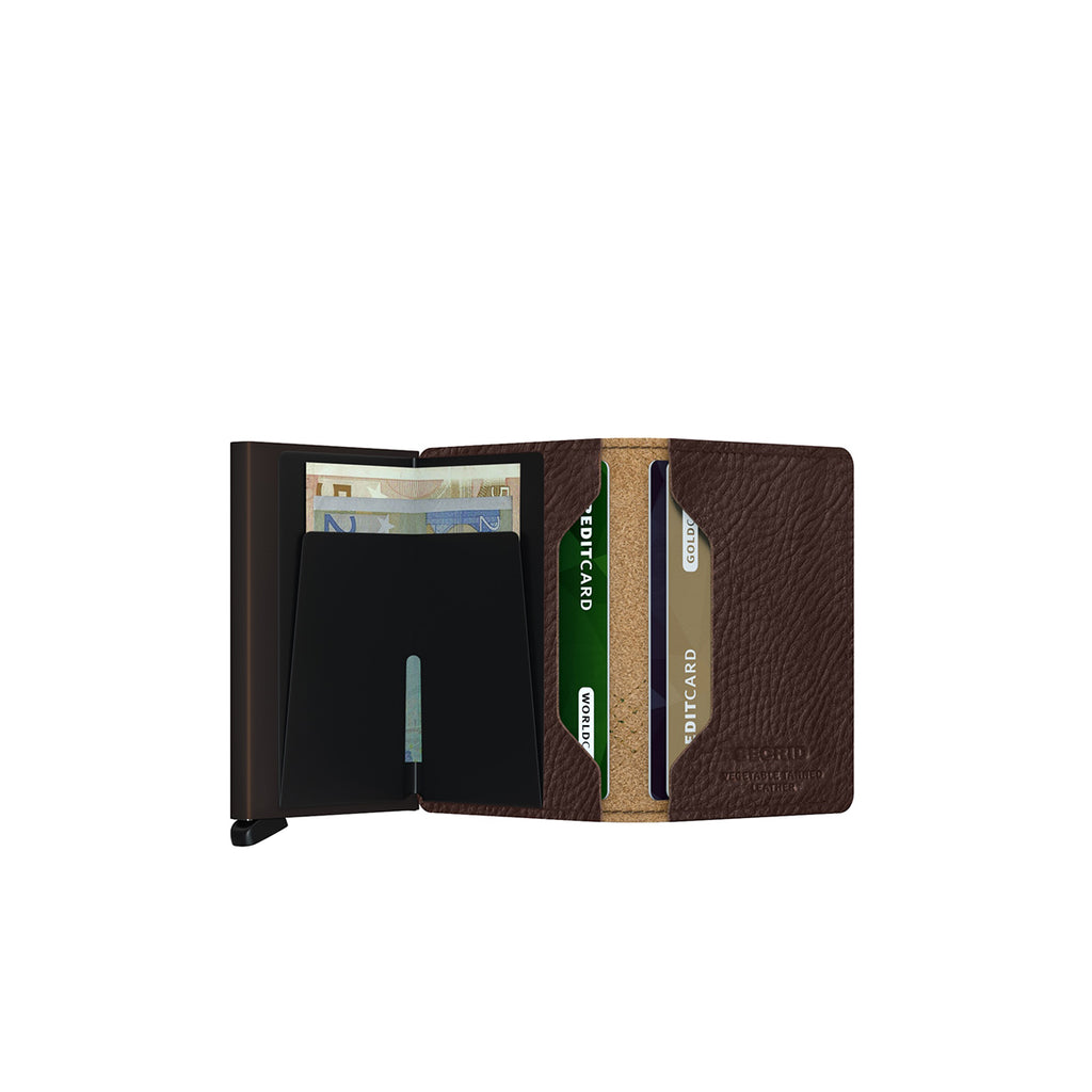 Secrid Mini Wallet Stitch Linea Espresso