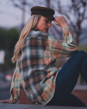 bright/muted flannel.