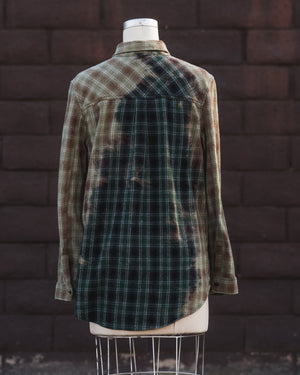 brown/green flannel.