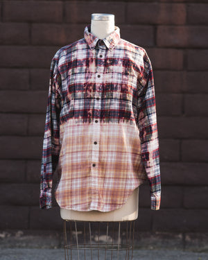 red/pink flannel.