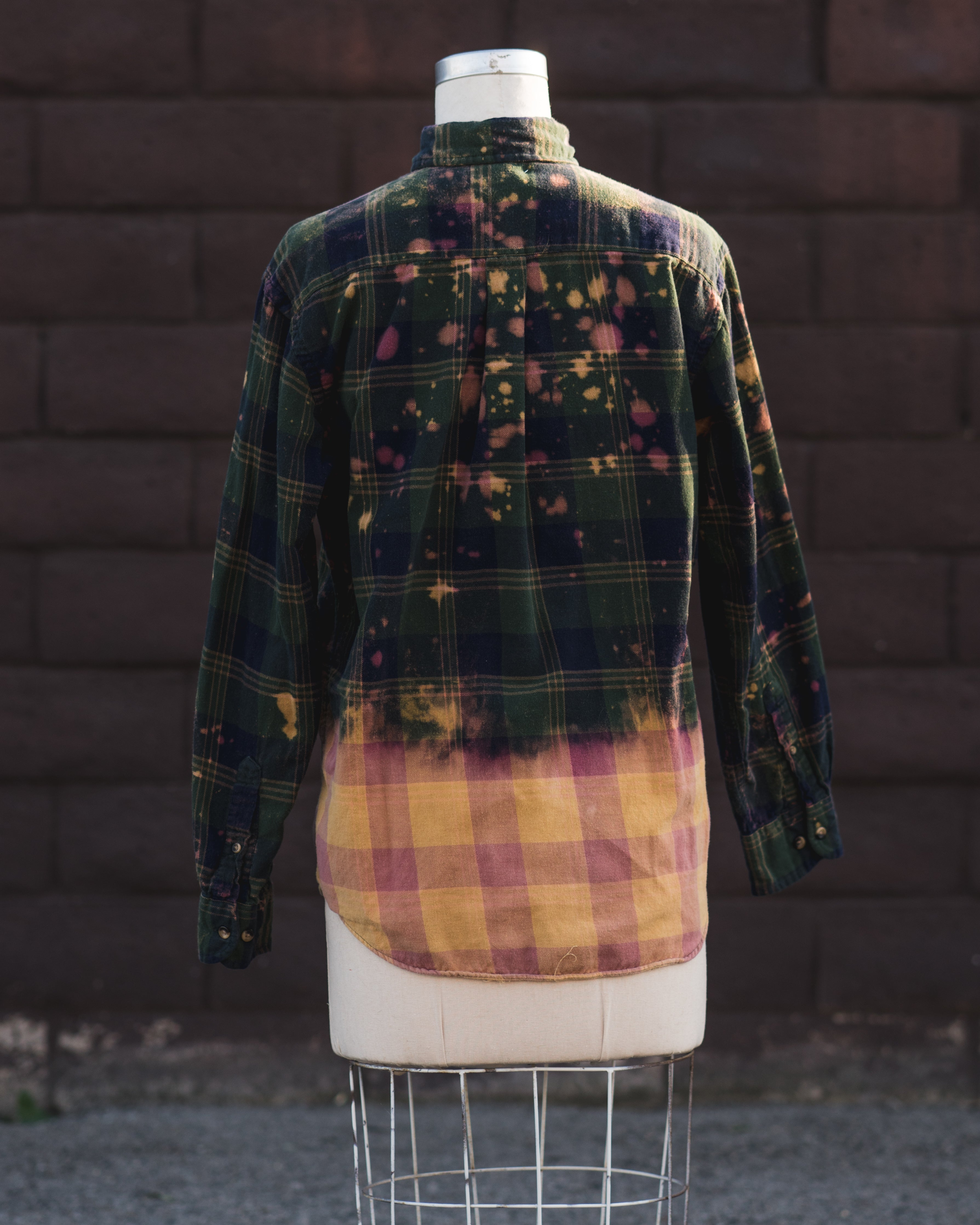 green/orange flannel.