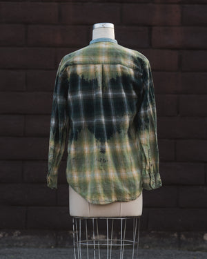 green/green flannel.