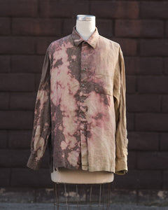 tan/spotted linen button up.