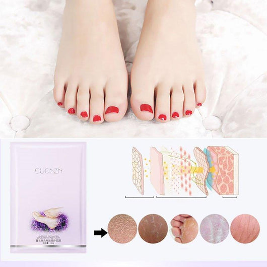 Lavender Exfoliating Foot Mask (3 Pairs)