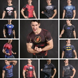 Superheroes Inspired Fitness Compression Shirt