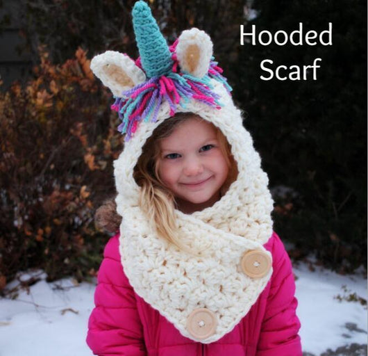 Unicorn Hooded Blanket / Scarf
