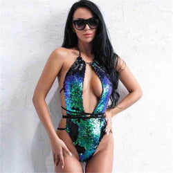 Reversible Mermaid Sequin Swimsuit