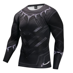King's Mantle Fitness Compression Black Shirt