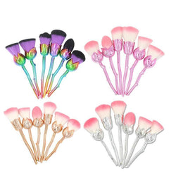 Rose Makeup Brush Set