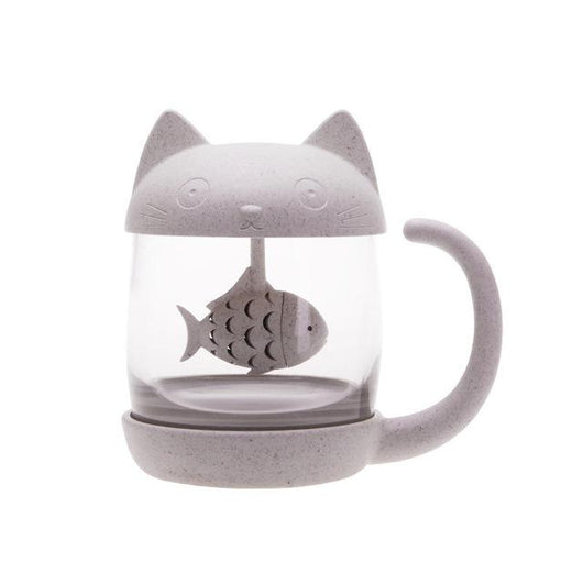 Cat Monkey Mug with Tea Infuser