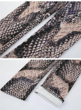 Faux Snakeskin Leggings