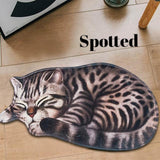 3D Cat Anti-Slip Floor Mat