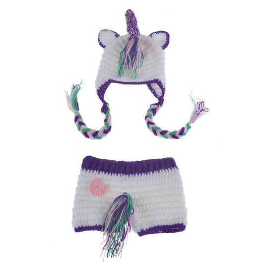 Baby Unicorn Hat and Bottom