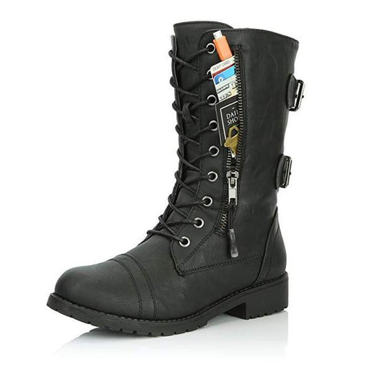 Hidden Pocket Combat Boots