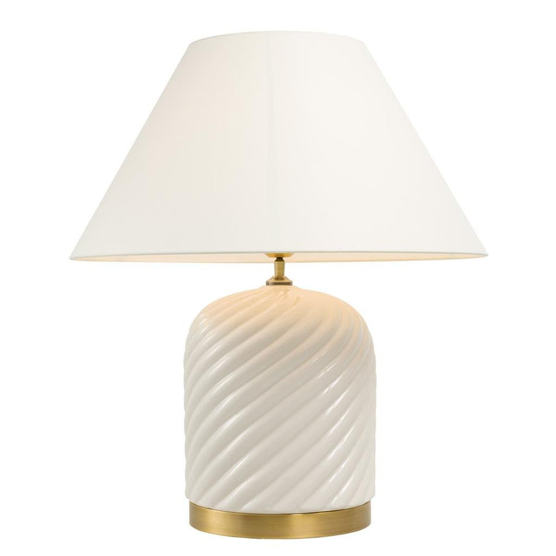 Eichholtz savona white ceramic table lamp luxury furniture europe