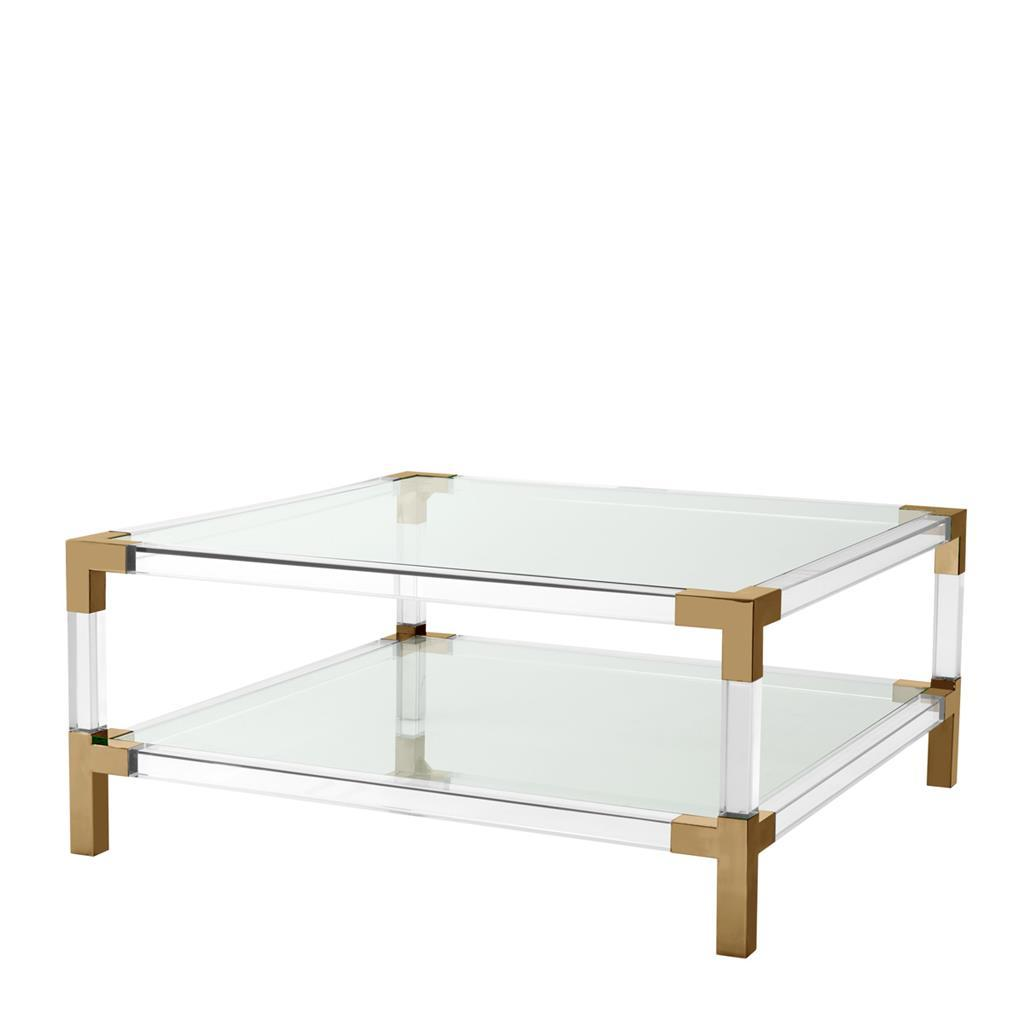 Clear Glass Furniture For Eichholtz Royalton Clear Glass Coffee Table Luxury Furniture
