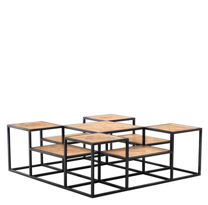 Wood And Metal Multi Level Coffee Table.Coffee Tables Eichholtz Luxury Furniture Free Shipping