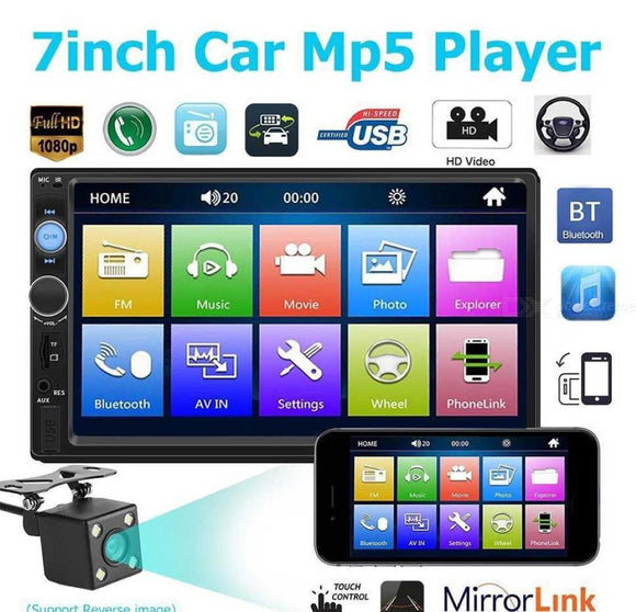 Car Radio 2 Din 7 Inch High Definition HD Touch Screen Multimedia Player