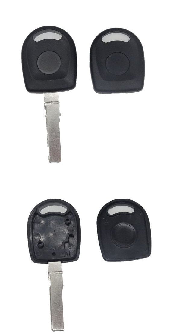 Transponder key blank HU66 round head for VW