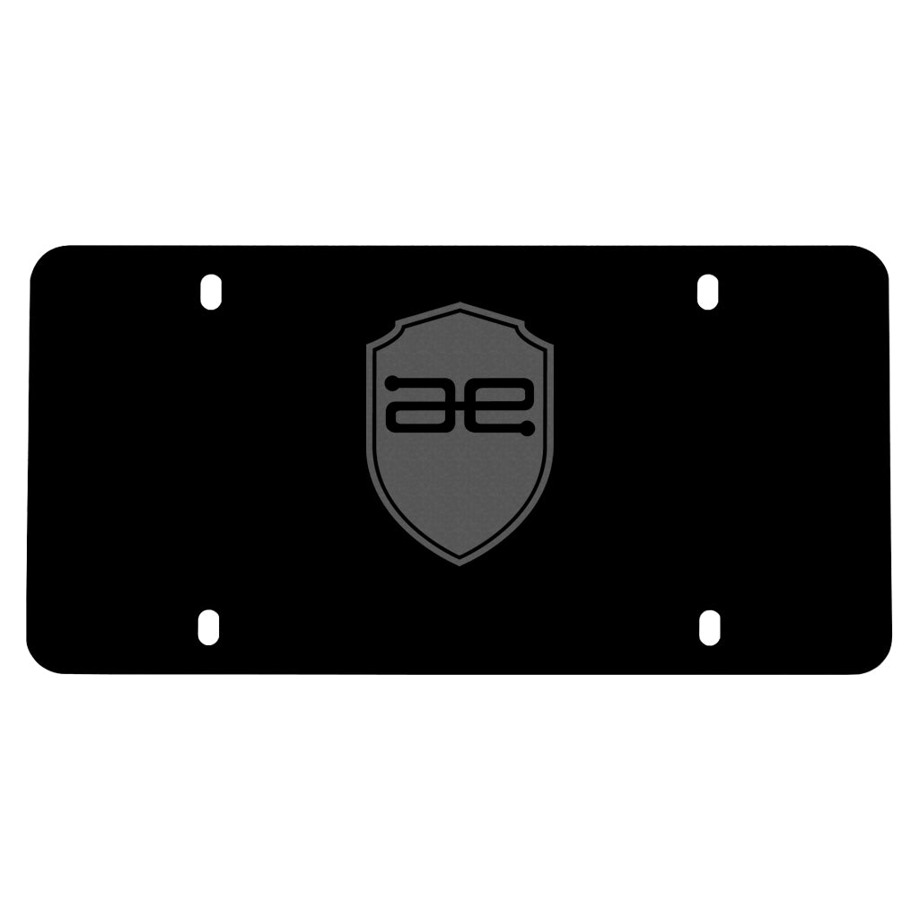 AE Shield License Plate