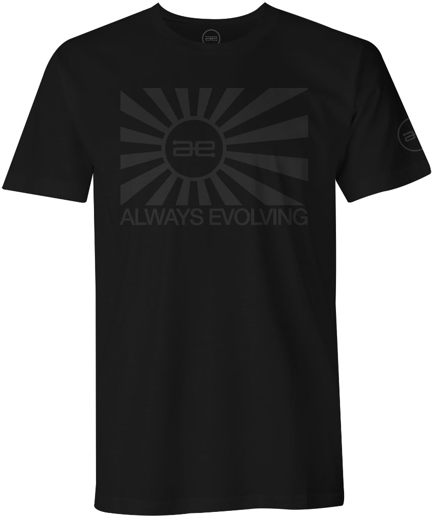 AE Throwback Flag Mens Shirt Black
