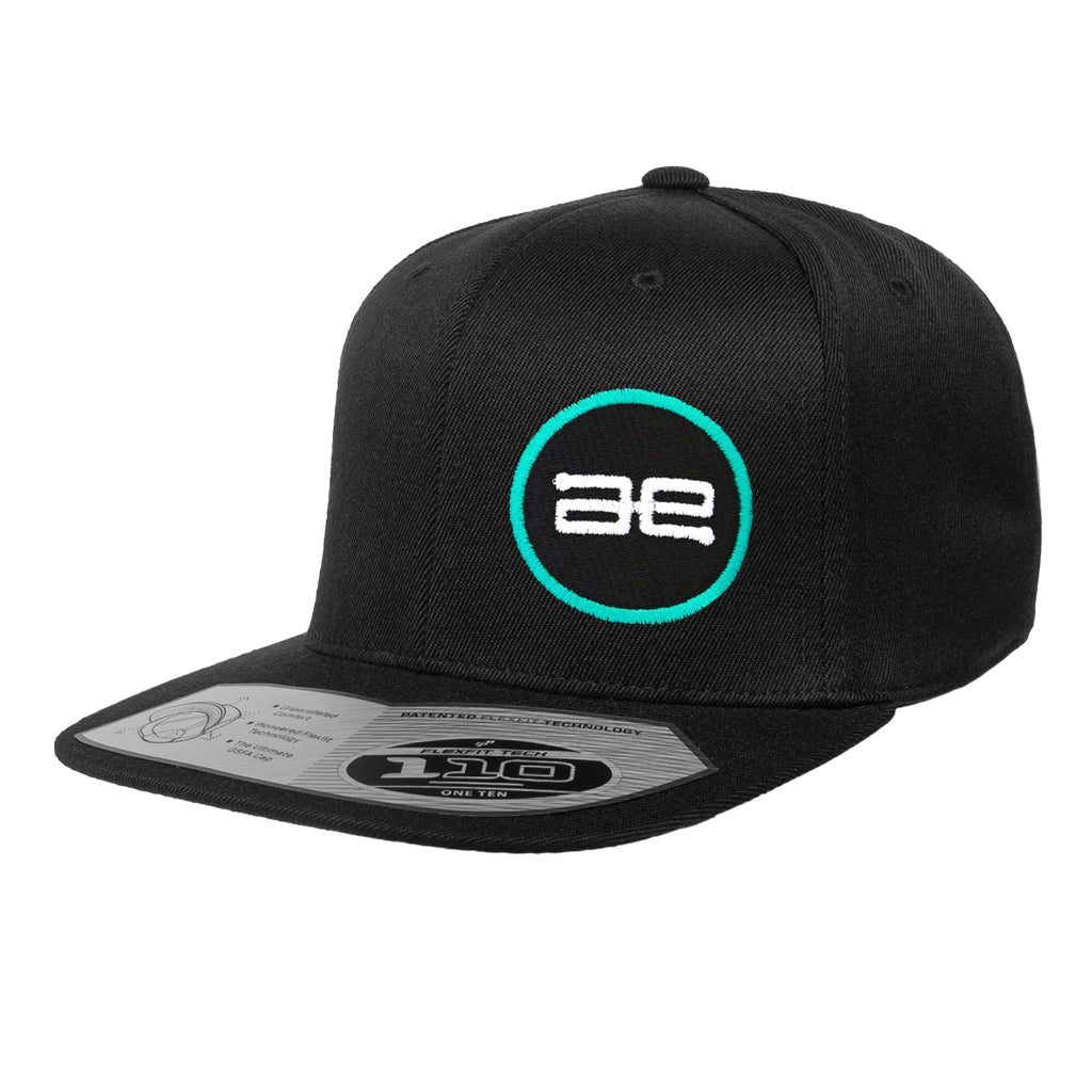 AE Team Circle BK Flat Snapback Hat
