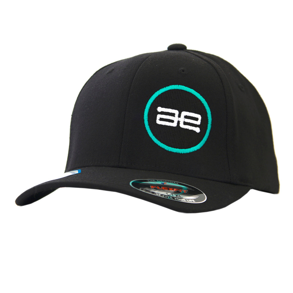 AE Team Circle BK FlexFit Hat