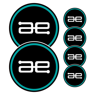 AE Team Circle Stickers 6 PACK