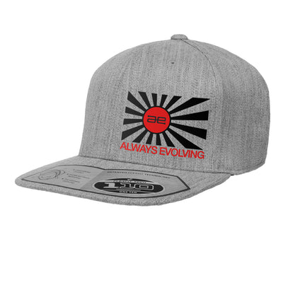 AE Throwback Flag GRY Flat Snapback Hat