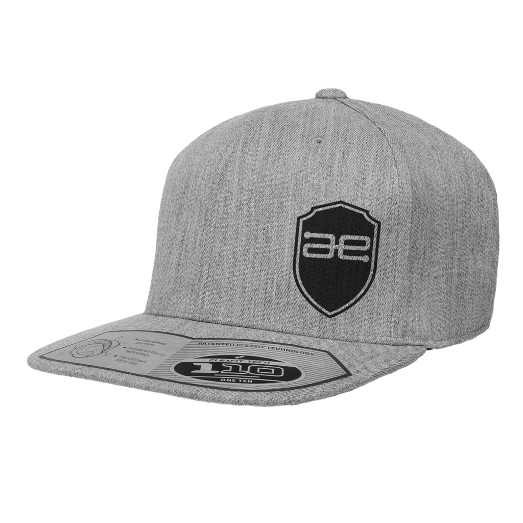 AE Shield GRY Flat Snapback Hat