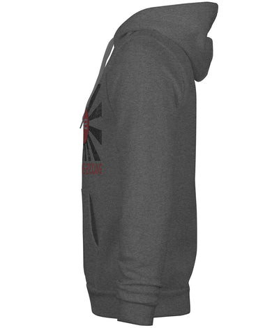 AE Distressed Flag Heavyweight Pullover Hoodie Grey