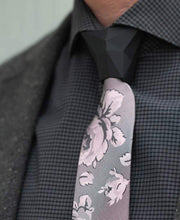 OBSIDIAN IN ROME - ROSE FLORAL & SOLID -2 TIE SET - ModernTie.com