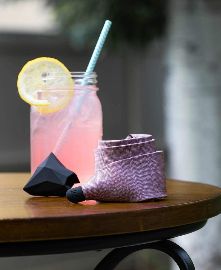 SHARP LEMONADE - SOLID PINK TIE SET - ModernTie.com