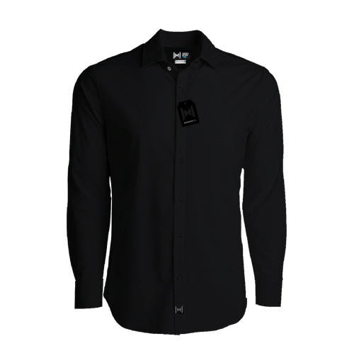 Stain Proof Black Modern Shirt