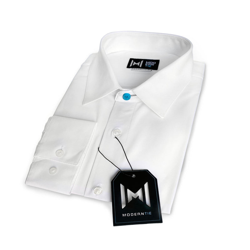 StainProof White Modern Shirt
