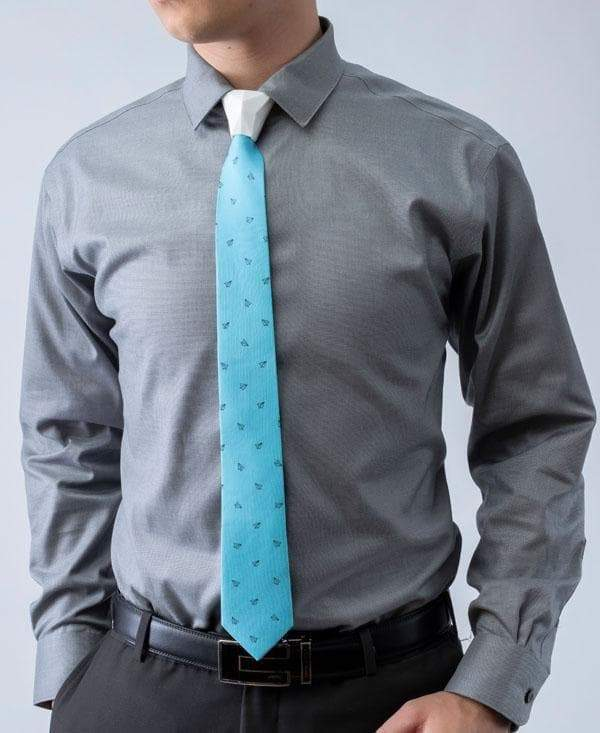 HOMEWORK - Paper Airplane Patterned - Tie - ModernTie.com