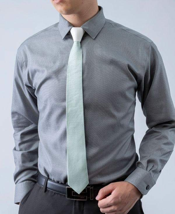 POWDER - Silver Threaded Iridescent Tie - ModernTie.com