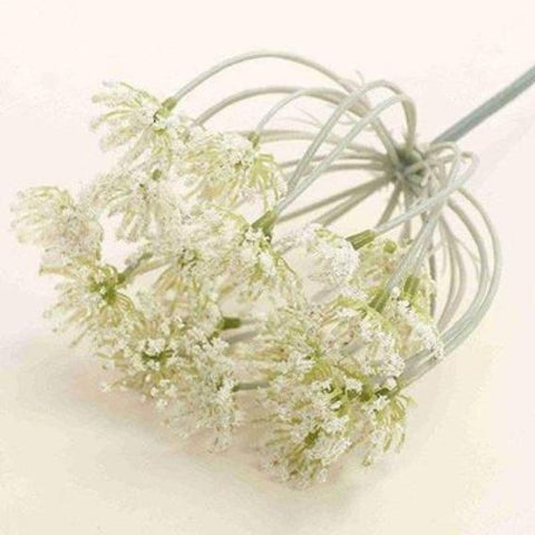 Artificial flowers for diy wedding decorations shop online in artificial off white stem junglespirit Images