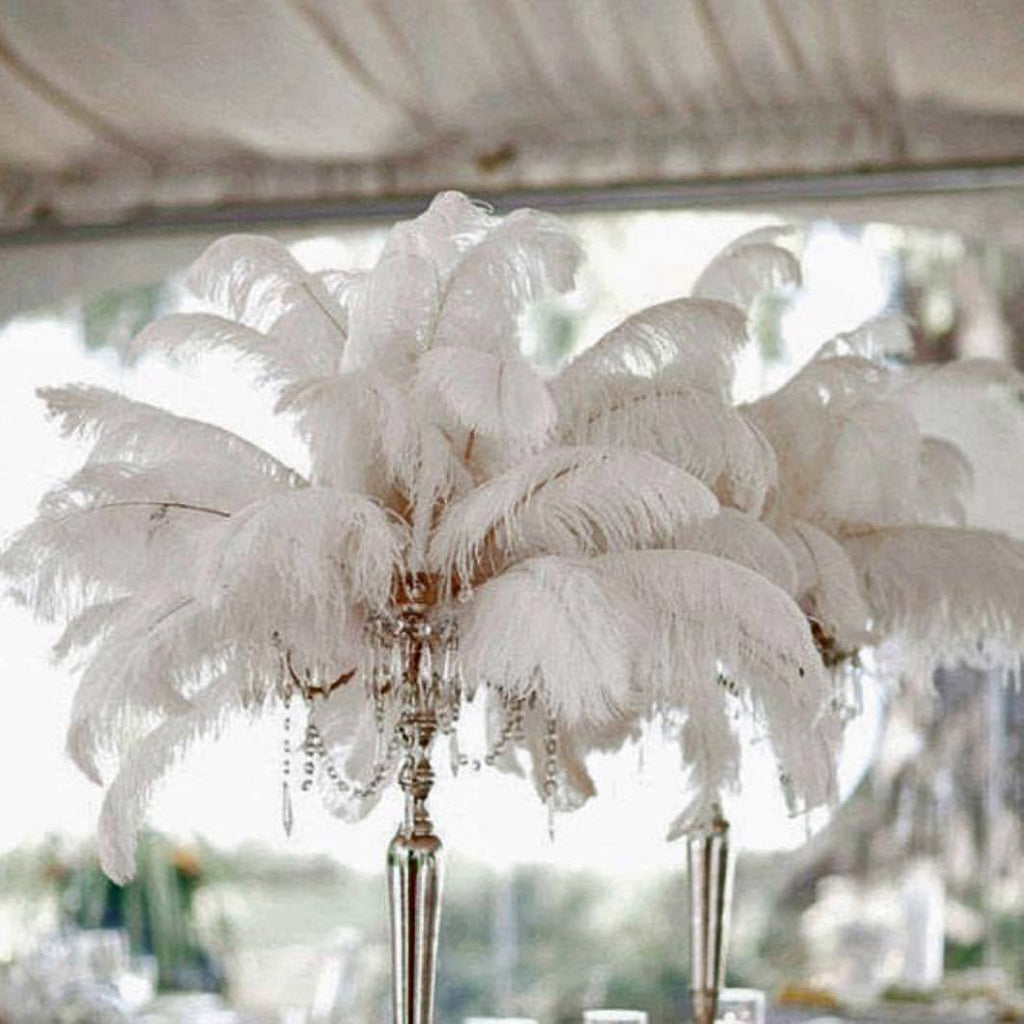 Feather Centerpieces – diy wedding decorations