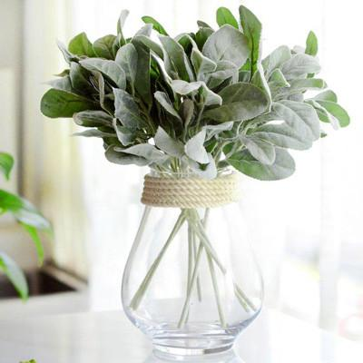 Artificial flowers for diy wedding decorations shop online in lambs ear artificial leaf stem style 1 junglespirit Image collections