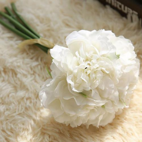 white carnation flower bouquet bunch diy wedding decorations