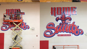St Clair Middle School Wall Graphic and Banners