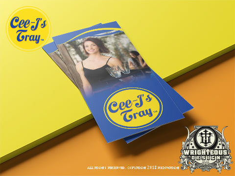Cee J's Tray Brochure Design